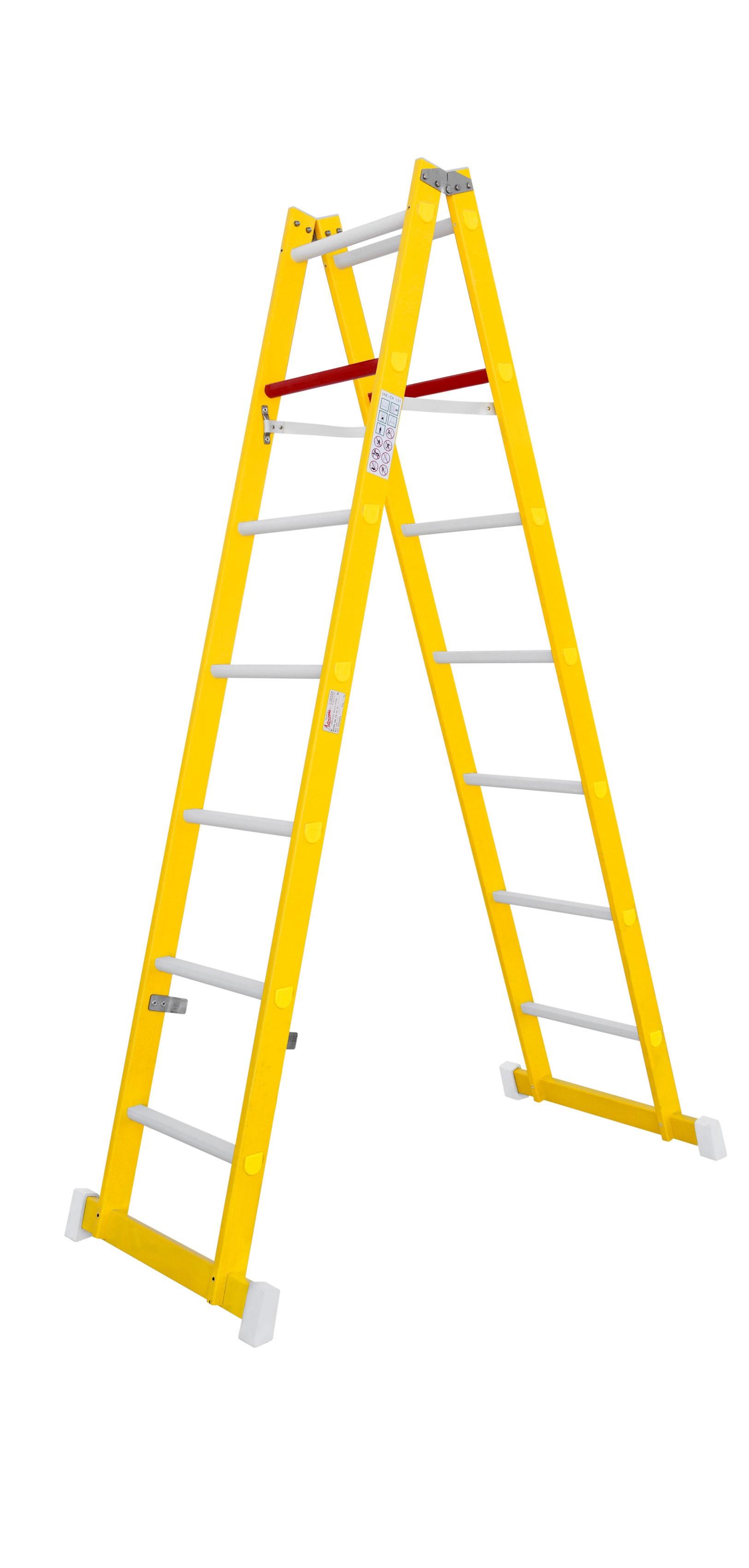 Escalera de fibra de tijera de doble subida escaleras for Escaleras fibra