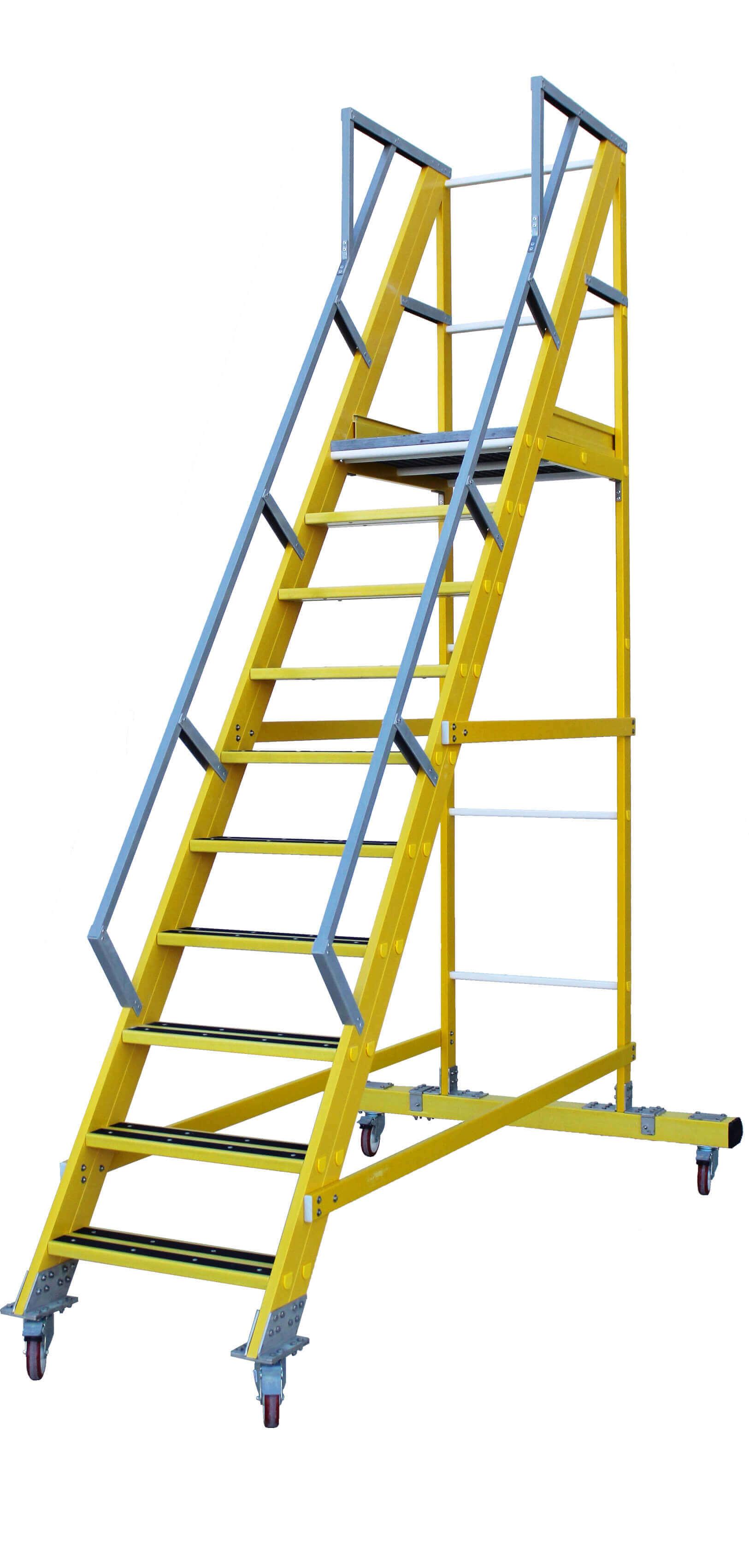 Escalera De Fibra De Almacén 55º