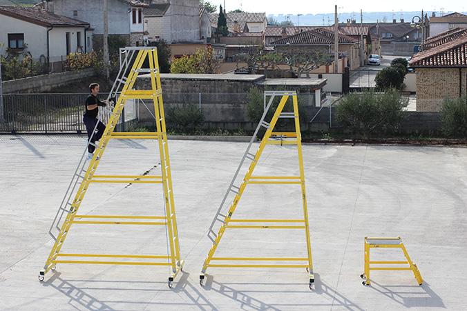 Partes de una escalera industrial por for Partes de una escalera