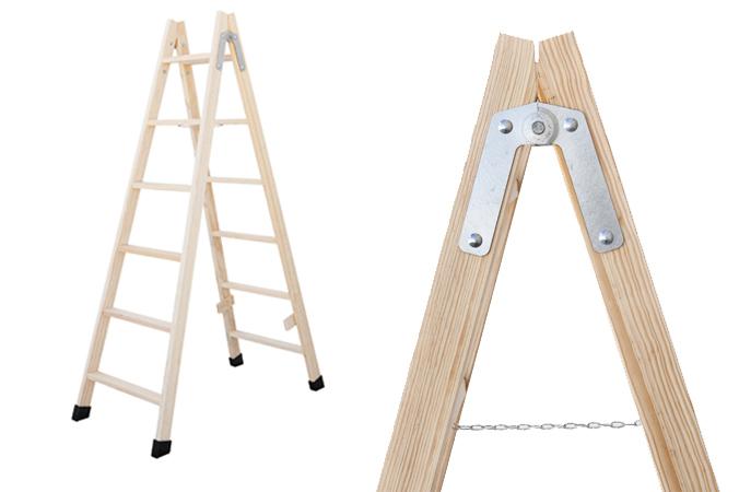 Escaleras de madera de pintor c mo elegir el modelo adecuado for Escaleras de madera para pintor precios