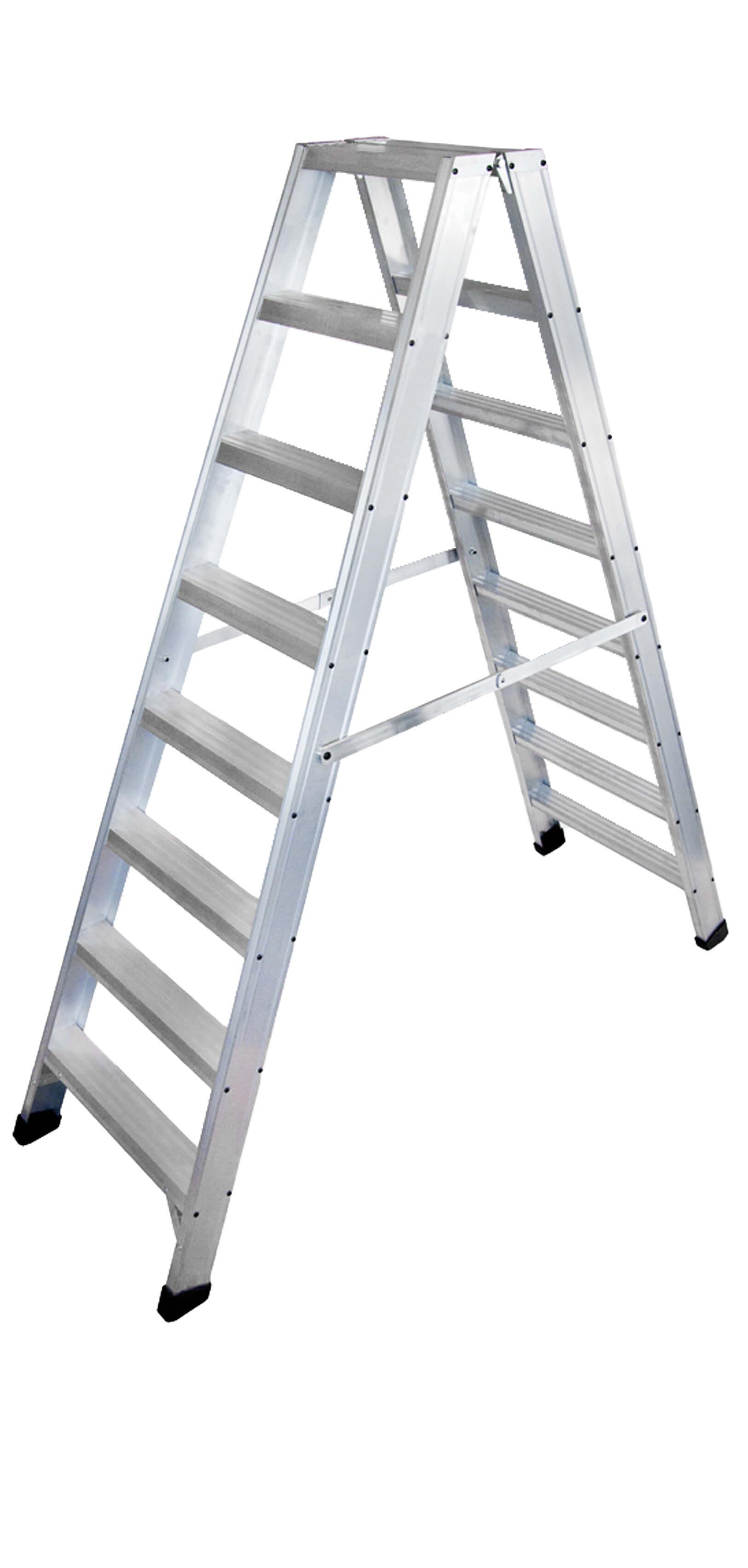Escalera de tijera con plataforma escaleras arizona for Escaleras 10 peldanos de tijera