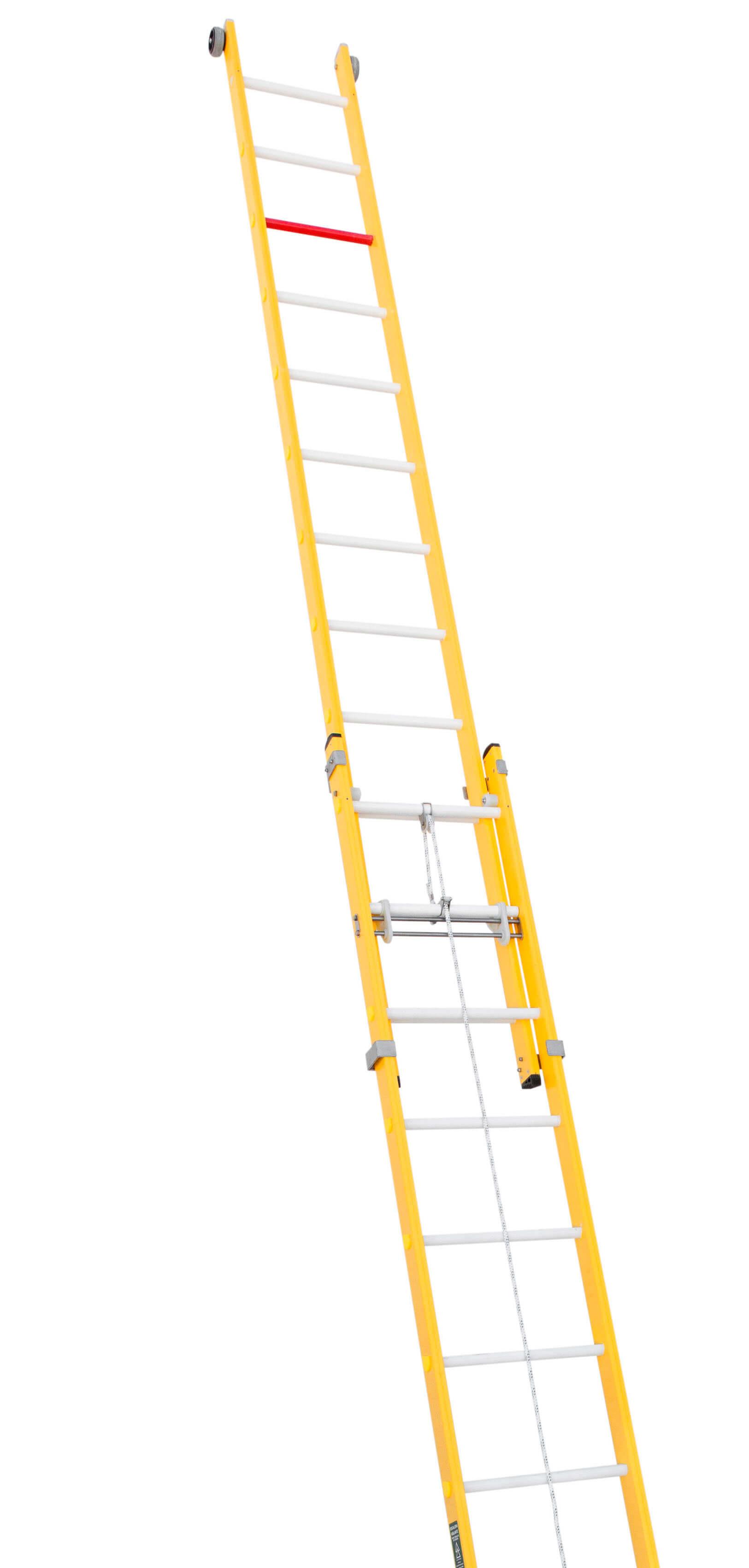 Escalera De Fibra Extensible A Cuerda